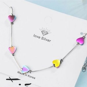 Jewelry - 🆕️Sweet Colorful Love Hearts 925 Bracelet